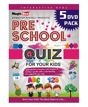 Preschool Interactive Quiz 5 DVD Pack - English