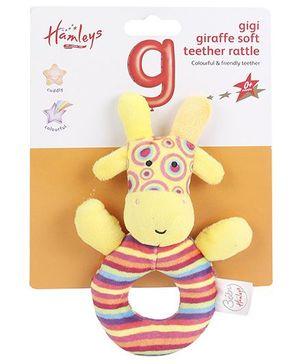 Hamleys Gigi Giraffe Teether Toy - Yellow