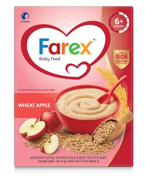 Farex Wheat Apple Fortified Baby Cereal - 300 gm