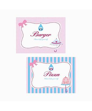 Prettyurparty Pink And Blue Baby Shower Food Labels - Pack of 10
