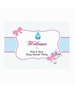 Prettyurparty Pink And Blue Baby Shower Entrance Banner