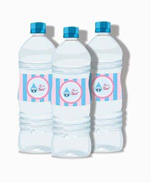 Prettyurparty Pink And Blue Baby Shower Water Bottle Labels