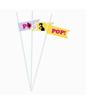 Prettyurparty Ready to POP Baby Shower Drink Straws - Pack of 10