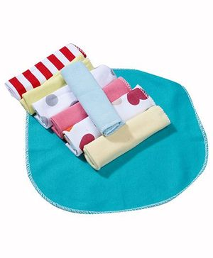 Babyhug Wash Cloth Assorted Design Multicolor - Pack Of 8