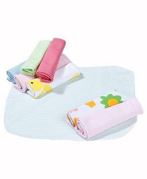 Babyhug Wash Cloth Pack Of 8 - Multicolor