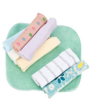 Babyhug Wash Cloth Assorted Design Multicolor - Pack Of 8
