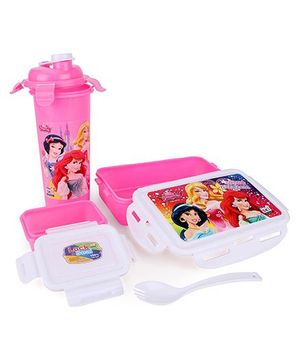 Disney Princess Lunch Box Set - Pink