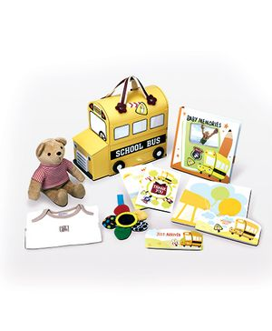 Gifthing Yellow School Bus Hamper - Yellow