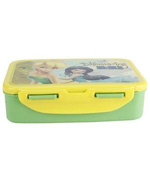 Cello Homeware Fairies Print Medium Lunch Box - Green And Yellow