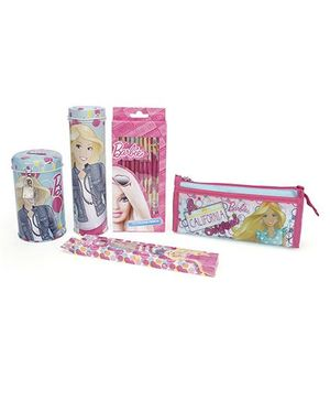 Barbie School Kit Pack Of 5 - Pink and Blue