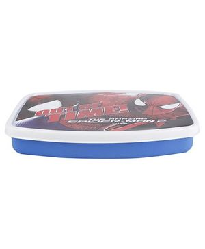 Cello Homeware Lunch Box Spider Man Print - Blue And White