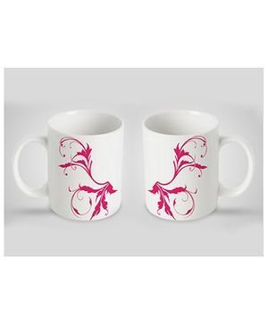Stybuzz Kids Ceramic Mug White & Pink 300 ml - Single Piece