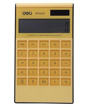 Deli Electronic Calculator - Yellow