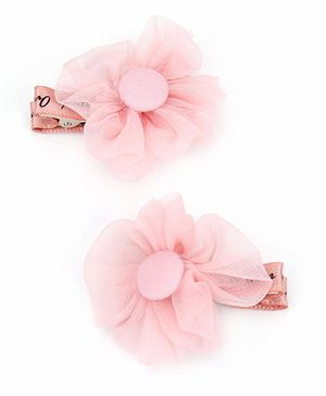 Kid-o-nation Alligator Clip Flower Applique - Pink