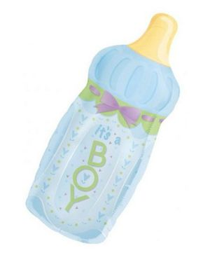 Planet Jashn It's A Boy Baby Bottle Supershape Balloon - Blue