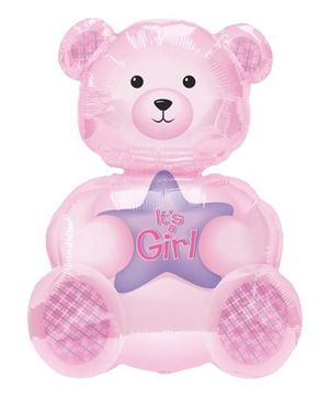 Planet Jashn Bear Supershape Balloon - Pink