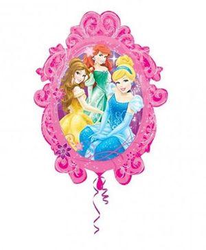 Planet Jashn Princess Frame Supershape Balloon - Multicolor