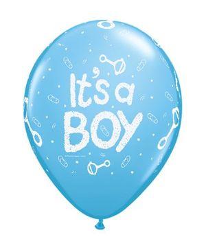 Planet Jashn It's A Boy Rattle Latex Balloon - Blue