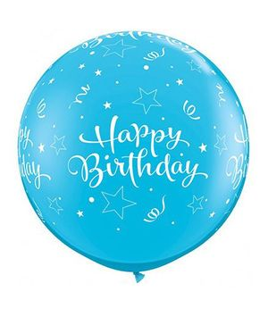 Planet Jashn Birthday Shinging Star Blue Giant Balloons