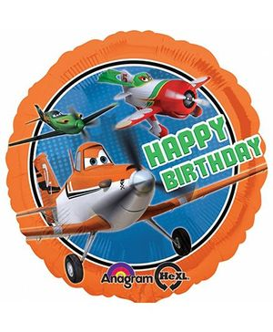 Planet Jashn Disney Planes Dusty Balloon - Orange