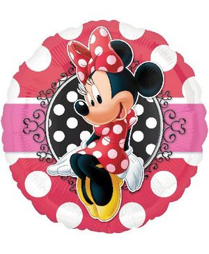 Planet Jashn Minnie Mouse Portrait Happy Birthday Balloon