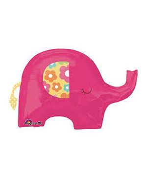Planet Jashn Pretty Pink Elephant Supershape Foil Balloon