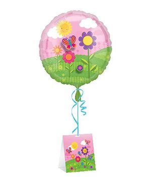Planet Jashn Birthday Butterfly Floral Standard Foil Balloon
