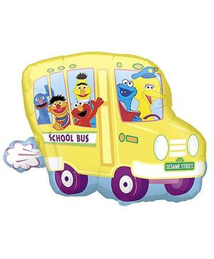 Planet Jashn Sesame Street Bus Supershape Balloon - Yellow