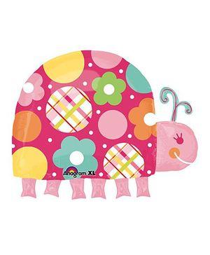 Planet Jashn Sweet Polka Dot Ladybug Supershape Balloon