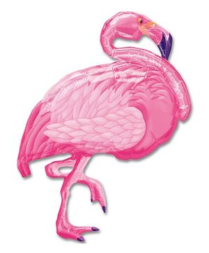 Planet Jashn Flamingo Beach Supershape Foil Balloon - Pink