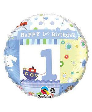 Planet Jashn 1st Birthday Foil Balloon - Blue