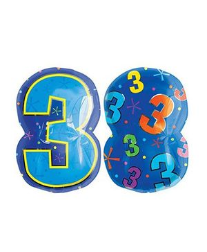 Planet Jashn Number 3 Multi Color Balloon