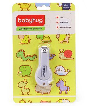 Babyhug Easy Grip Nail Clipper - White
