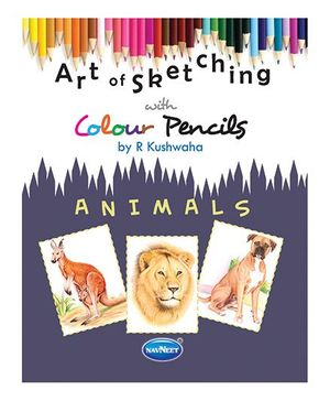 Art Of Sketching Animals Book With Color Pencils - English