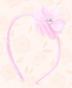 Peaches & Cream by Babyhug Hair Band Floral Applique - Pink