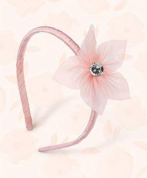 Peaches & Cream by Babyhug Hair Band Floral Applique - Peach