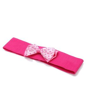 AddOn Headband With Bow Patch - Fuchsia