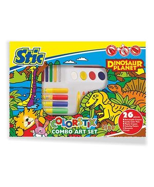 Stic Dinosaur Planet Colorstix Combo Art Set - 26 Pieces