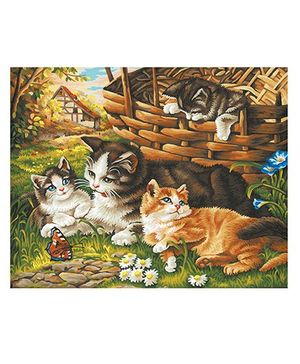 Simba Schipper Cat Family -  Multicolor