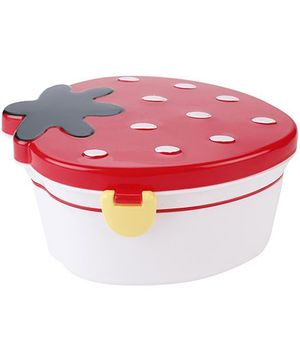 Strawberry Shaped Lunch Box - Red And White