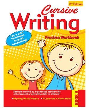 Cursive Writing Practice Workbook - 4