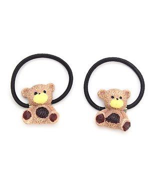 Anaira Little Teddy Set of Teddy Hair Tie - Brown