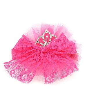 Anaira Princess Clip with Bow - Pink