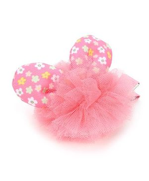 Anaira Bunny Clip with Frills - Pink