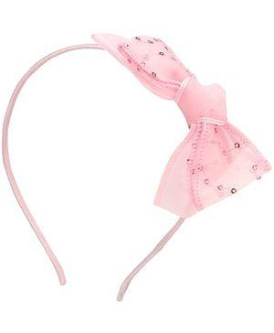 Anaira Ribbon Lace Hair band - Pink
