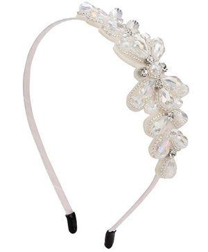 Anaira Hair Band Floral Design - White