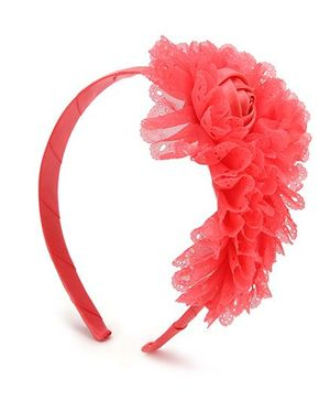 Anaira Hair Band Floral Design - Coral