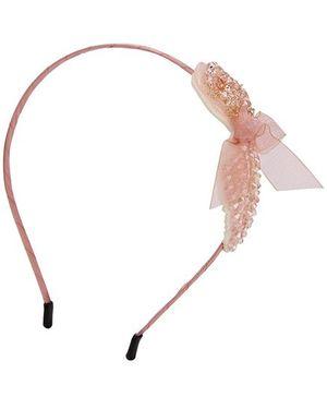 Anaira Hair Band Leaf Design - Peach