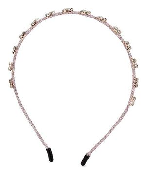 Anaira Hair Band Stone Studded Design - Pink