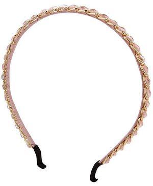 Anaira Hair Band Chain Design - Peach